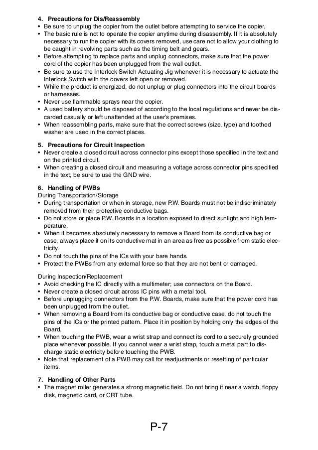 service manual di manual de mantenimiento para maquinas fotocopi   12