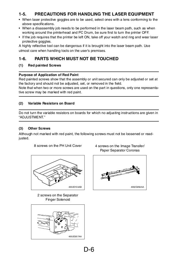 service manual di470 manual de mantenimiento para maquinas fotocopi rh slideshare net Konica Minolta MFD Minolta Dialta Toner