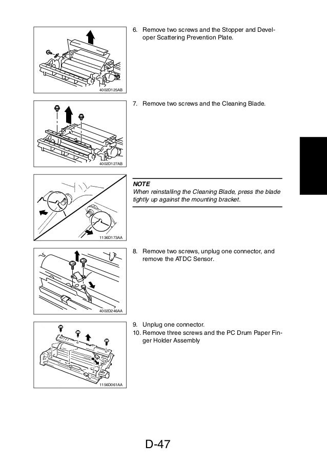 service manual di470 manual de mantenimiento para maquinas fotocopi rh slideshare net Di Alta Copy Machine Konica Minolta Di Alta