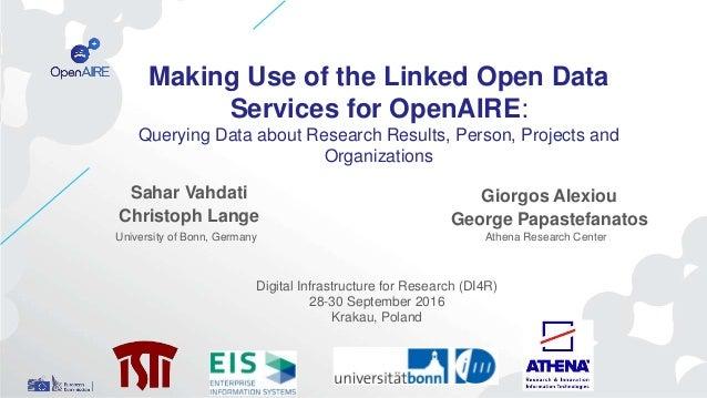 Sahar Vahdati Christoph Lange Giorgos Alexiou George Papastefanatos Making Use of the Linked Open Data Services for OpenAI...