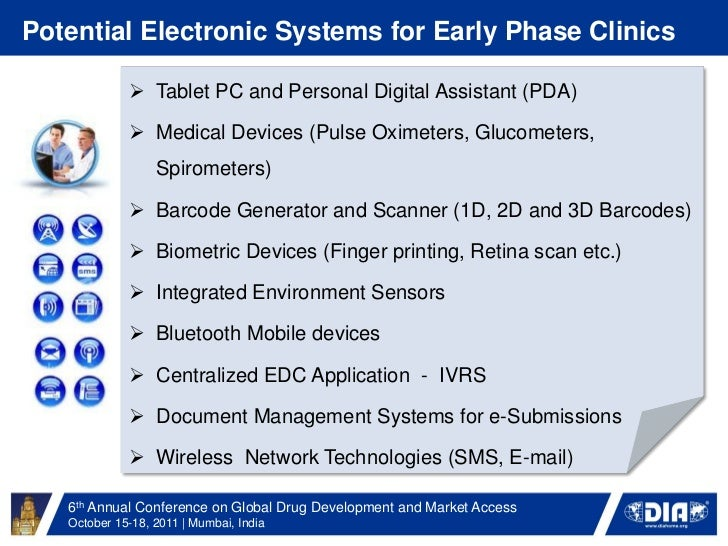 The Use Of Electronic Systems In Early Phase Clinical