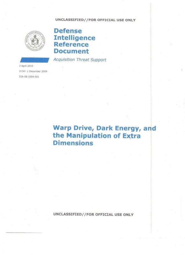 DIA - Warp Drive, Dark Energy, and the Manipulation of Extra Dimensions