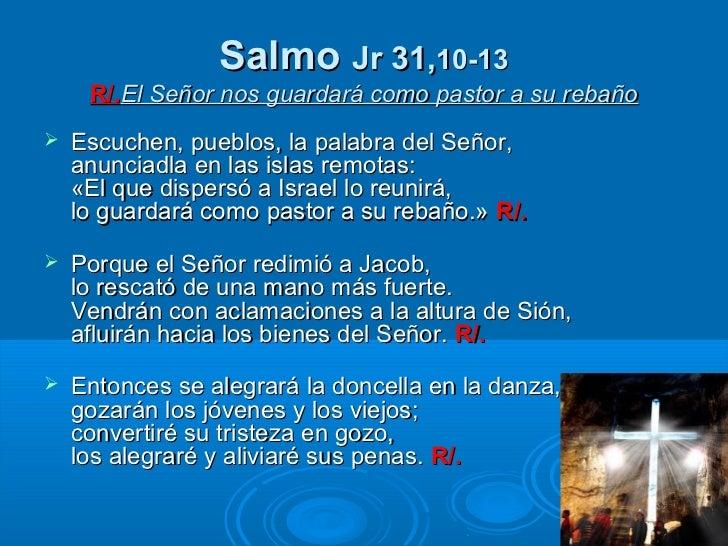 Resultado de imagen para El Señor nos guardará como un pastor a su rebaño  V/. Escuchad, pueblos, la palabra del Señor