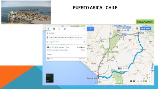 PUERTO ARICA - CHILE Volver Menú