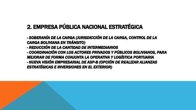 2. EMPRESA PÚBLICA NACIONAL ESTRATÉGICA - SOBERANÍA DE LA CARGA (JURISDICCIÓN DE LA CARGA, CONTROL DE LA CARGA BOLIVIANA E...