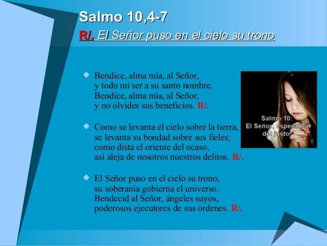 Resultado de imagen para El Señor puso en el cielo su trono  Bendice, alma mía, al Señor,
