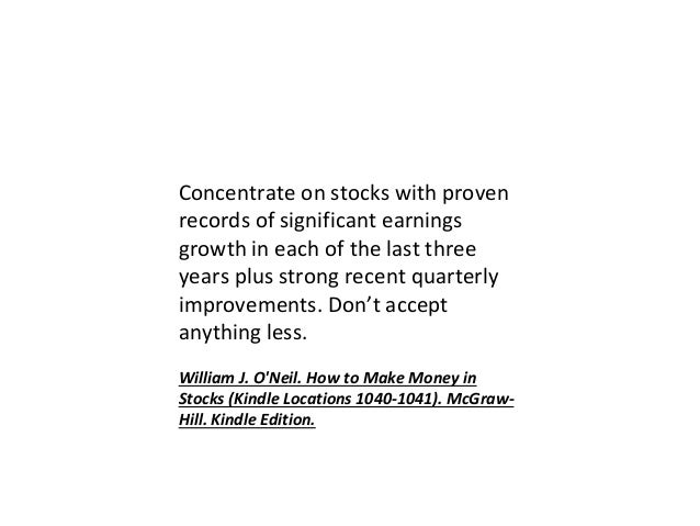 william j o neil how to make money in stocks