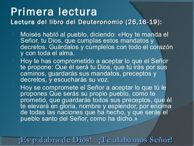 Resultado de imagen para Deuteronomio (26,16-19)