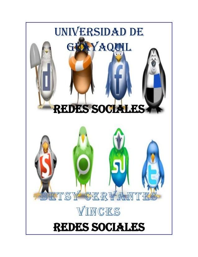 UNIVERSIDAD DE  GUAYAQUILREDES SOCIALESREDES SOCIALES