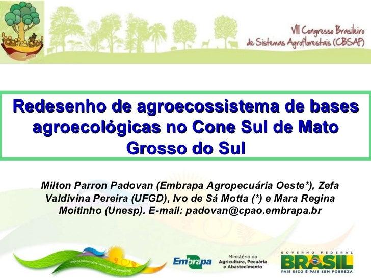 Milton Parron Padovan (Embrapa Agropecuária Oeste*), Zefa Valdivina Pereira (UFGD), Ivo de Sá Motta (*) e Mara Regina Moit...