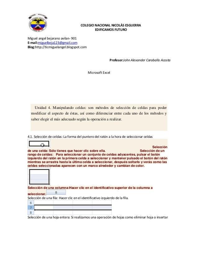 COLEGIO NACIONAL NICOLÁS ESGUERRA EDIFICAMOS FUTURO Miguel angel bejarano avilan- 901 E-mail:miguelbeja123@gmail.com Blog:...