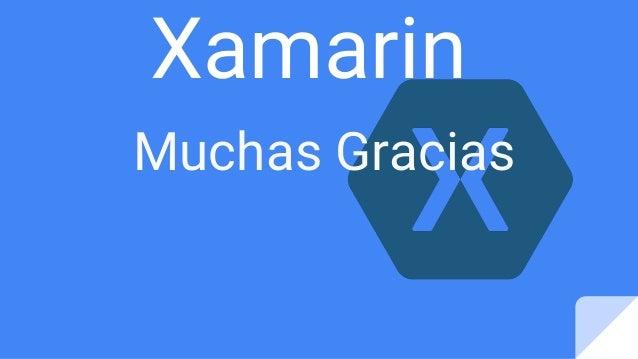 Xamarin Muchas Gracias