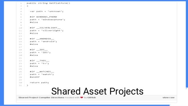 Shared Asset Projects