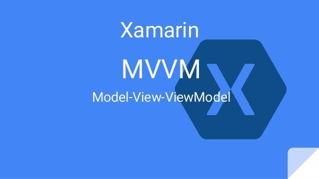 MVVM Model-View-ViewModel Xamarin