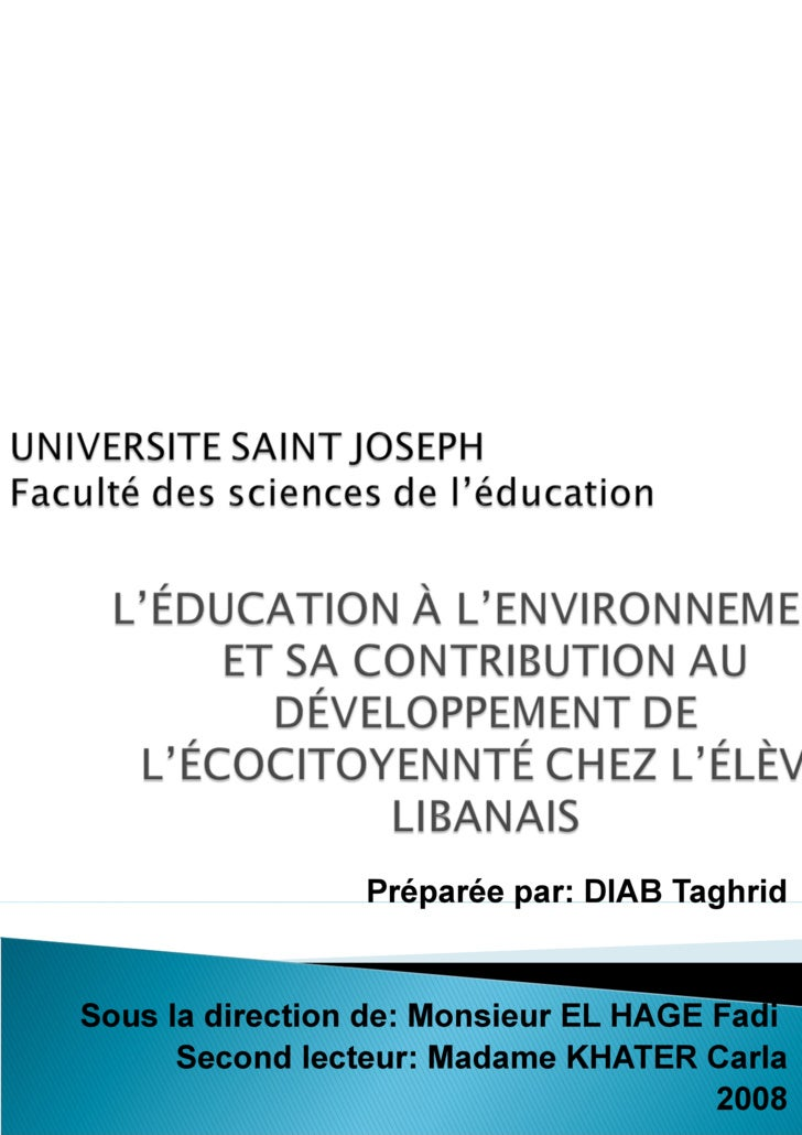 Préparée par :  DIAB Taghrid  Sous la direction de :  Monsieur EL HAGE Fadi Secondlecteur :  Madame KHATER Carla 2008
