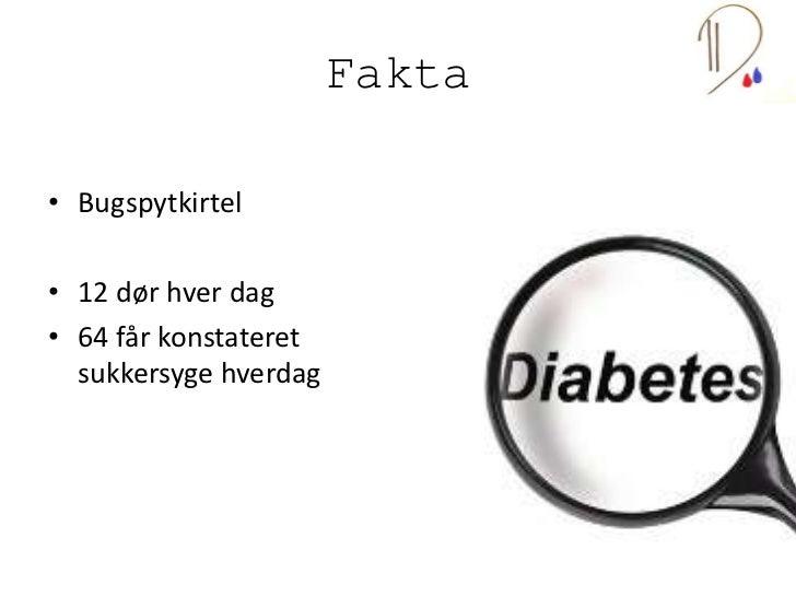 Diabeterne Powerpointpræsentation Slide 2