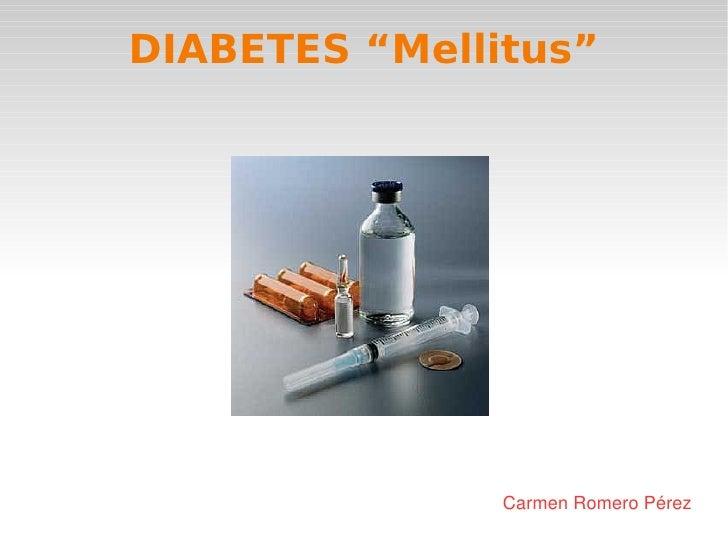 Presentación sobre Diabetes