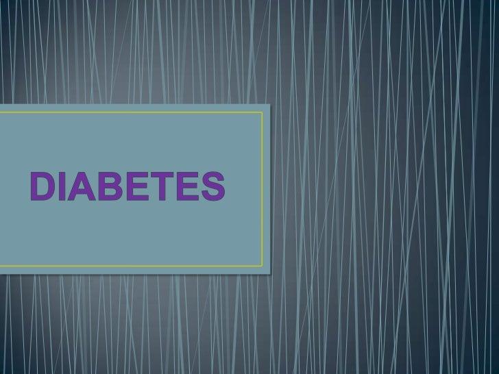DIABETES<br />