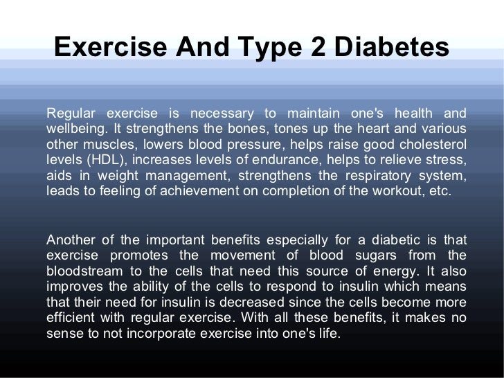 The Importance of Exercise To Beat Type 2 Diabetes and The Symptoms o…