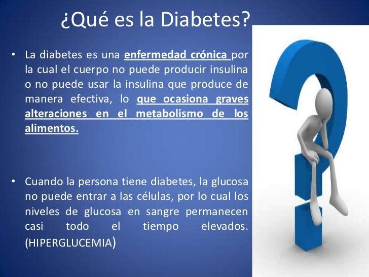 Diabetes, nutrición y control de pacientes diabeticos