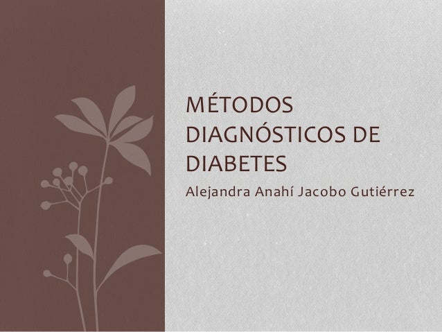 Diagnostico de diabetes