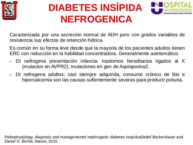síntomas de diabetes insípida nefrogénica