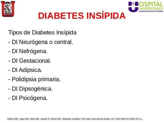 tiazidas en diabetes insipida diagnostico