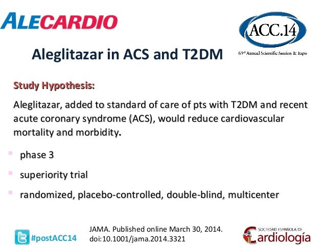 Lo mejor del ACC 2014. Diabetes, lípidos y cardiopatía isquémica crónica