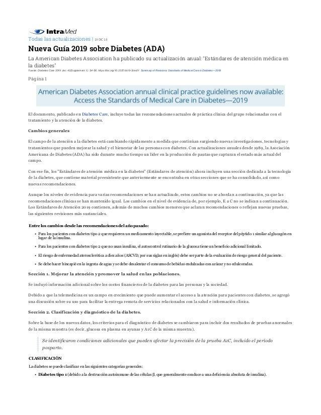 información sobre diabetes para pacientes en español