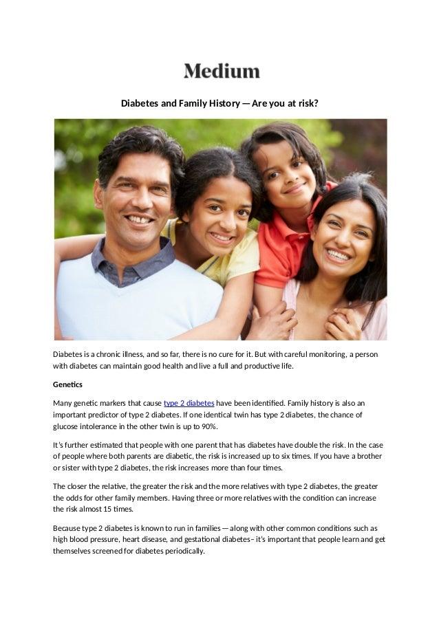can diabetes run in families
