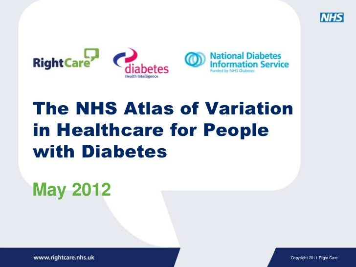 The NHS Atlas of Variationin Healthcare for Peoplewith DiabetesMay 2012                         Copyright 2011 Right Care