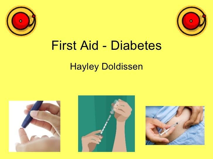 First Aid - Diabetes Hayley Doldissen
