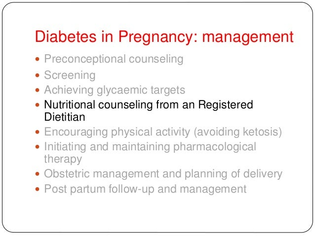 management of diabetes in pregnancy guidelines