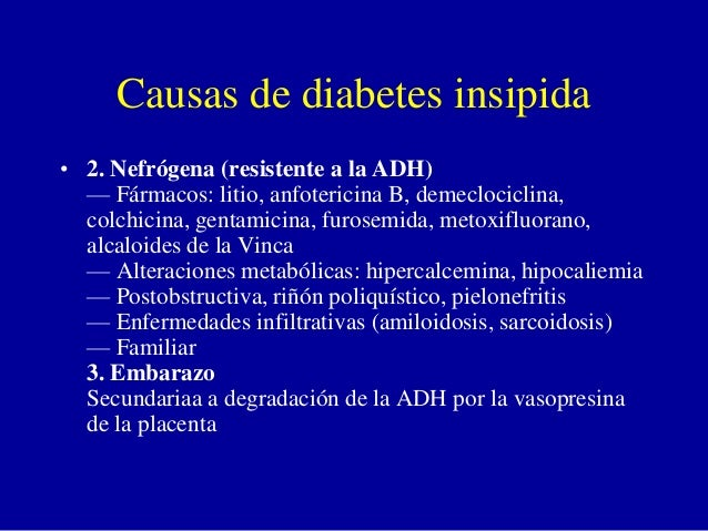 Diabetes insipida patologia adh copia