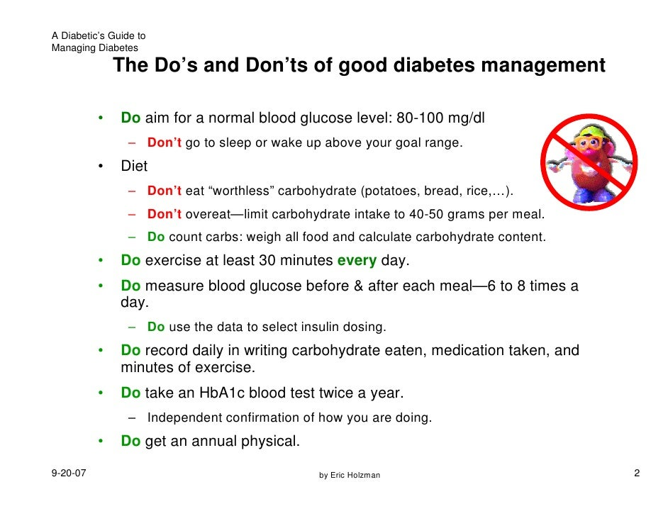 Diabetes Do S And Don Ts With Food