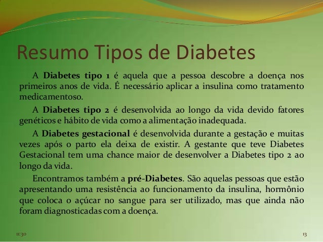 sobre diabetes resumos