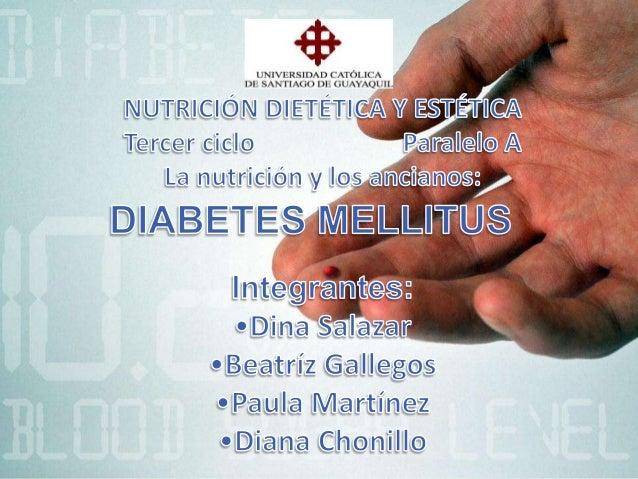 La diabetes mellitus se relacionan con los adultos mayores Diabetes tipo2 no es dependiente de la insulina (DMNDI) o diabe...