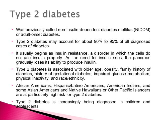insulin dependent diabetes mellitus essay Diabetes mellitus, or simply, diabetes is a disorder of carbohydrate metabolism characterized by impaired ability of the body to produce or respond to insulin and thereby maintaining proper levels of glucose in the blood (encyclopedia britannica).