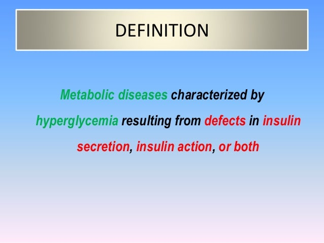 Simple Definition Of Diabetes Mellitus