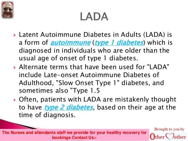 onset diabetes Late adult