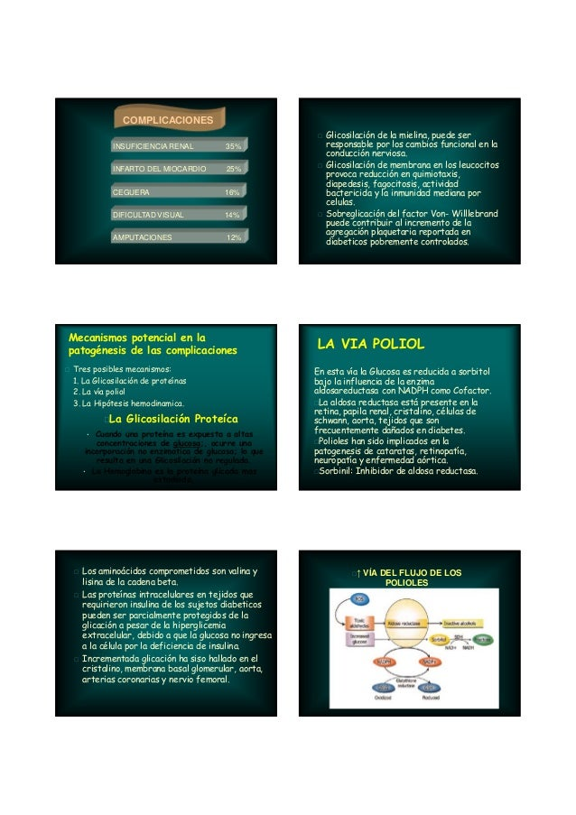 COMPLICACIONES INSUFICIENCIA RENAL 35% INFARTO DEL MIOCARDIO 25% CEGUERA 16% DIFICULTAD VISUAL 14% AMPUTACIONES 12% Mecani...