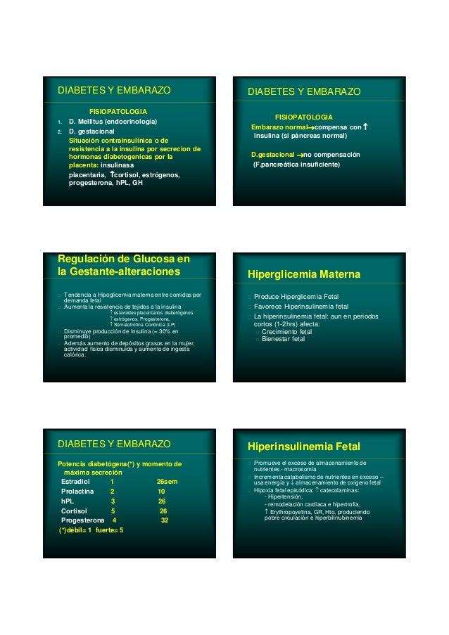 DIABETES Y EMBARAZO FISIOPATOLOGIA 1. D. Mellitus (endocrinología) 2. D. gestacional Situación contrainsulínica o de resis...