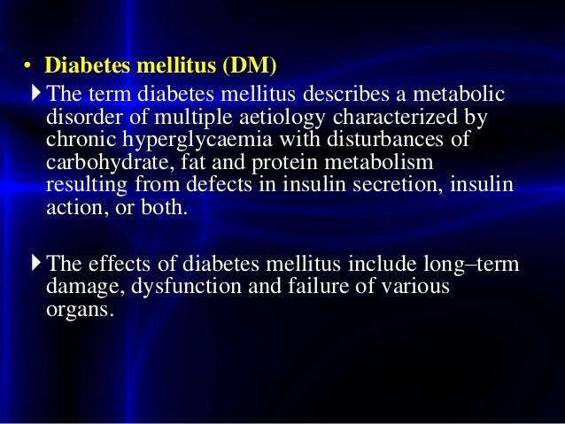 Diabetes mellitus Slide 2
