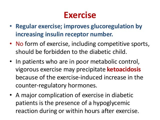 • The major contributing factor to hypoglycemia with exercise is an increased rate of absorption of insulin from its injec...