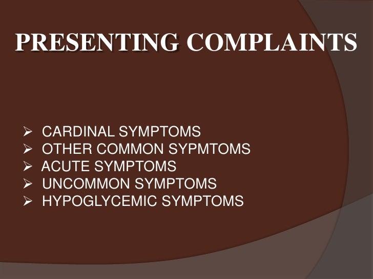 Diabetes Mellitus: Presentation and CLinical Examination Slide 2