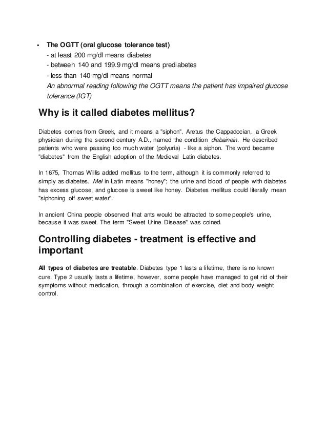 Which treatments for diabetes are generally effective?