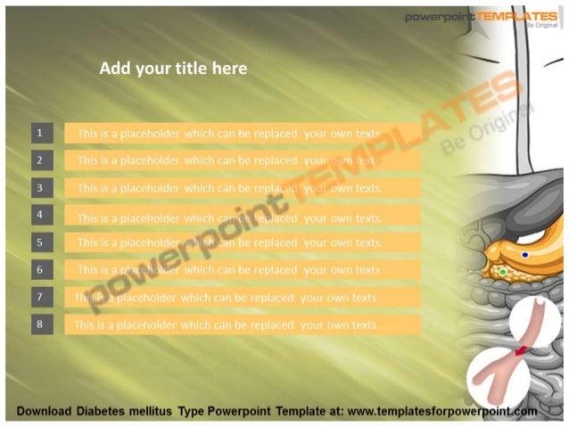 Diabetes Mellitus Type Powerpoint Template
