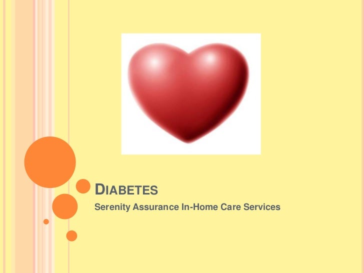 DIABETESSerenity Assurance In-Home Care Services