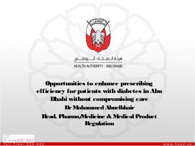 Opportunities to enhance prescribingefficiency for patients with diabetes in Abu     Dhabi without compromising care      ...