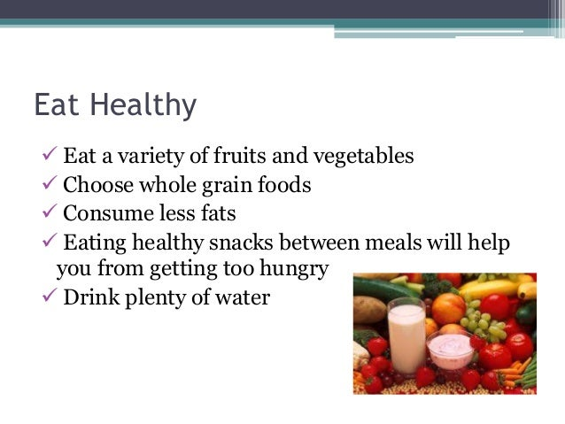 How to eat healthy food and lose weight